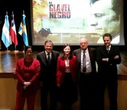 Los oradores en el acto: VIceMinistro Zuain,Embajadora de Suecia, Gufran al.Nadaf, Embajador de Chile, Jose Viera, y el VD de EuroLatina, Carlos Claret